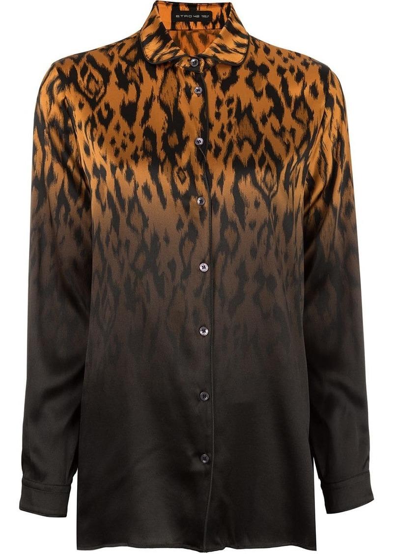 Etro animal print shirt