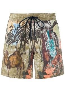 Etro animals print swim shorts
