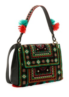 Etro B Sotto Braccio Carpet Embroidered Shoulder Bag