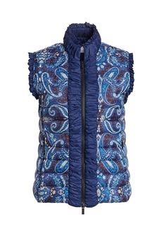 Etro Bandana-Print Puffer Vest