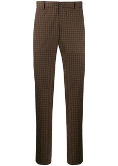 Etro baroque print slim trousers