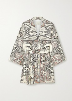 Etro Belted Paisley-print Wool And Silk-blend Twill Jacket