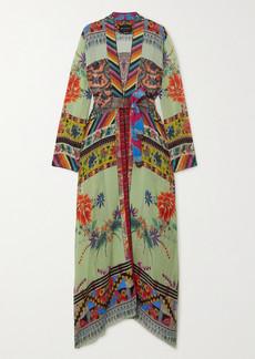 Etro Belted Printed Silk-crepon Robe