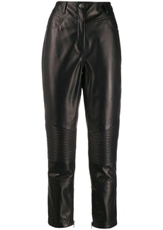 Etro biker style cropped trousers