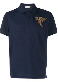Etro Bird embroidered polo shirt