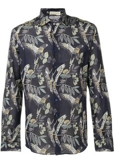 Etro bird printed button-up shirt