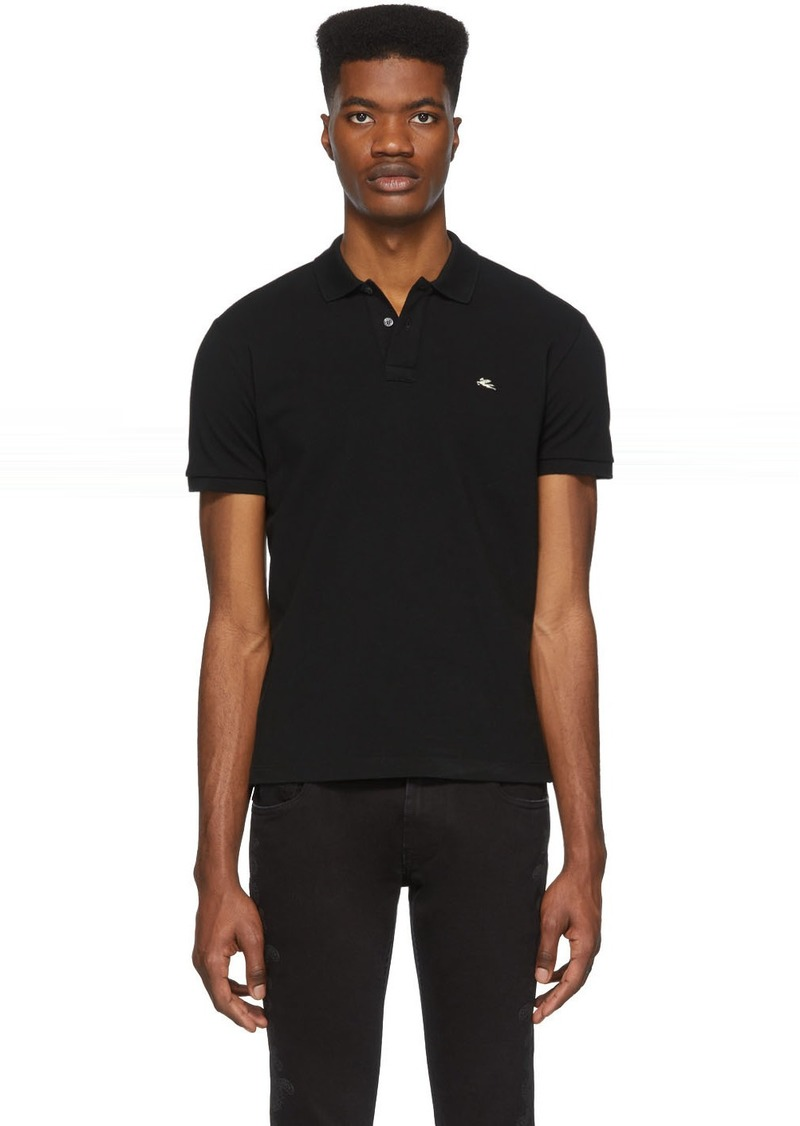 Etro Black Logo Polo