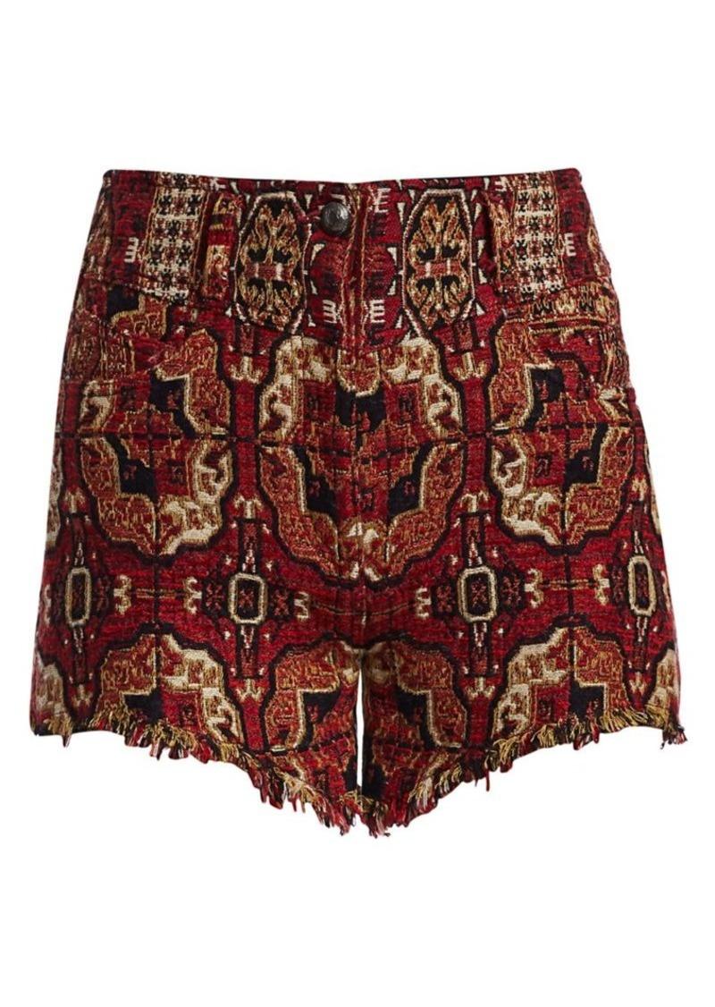 Etro Bloomer Tile Print Jacquard Shorts