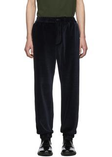Etro Blue Velour Lounge Trousers