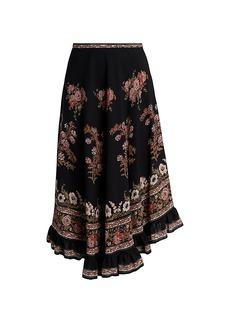 Etro Camarillo Floral Midi Skirt