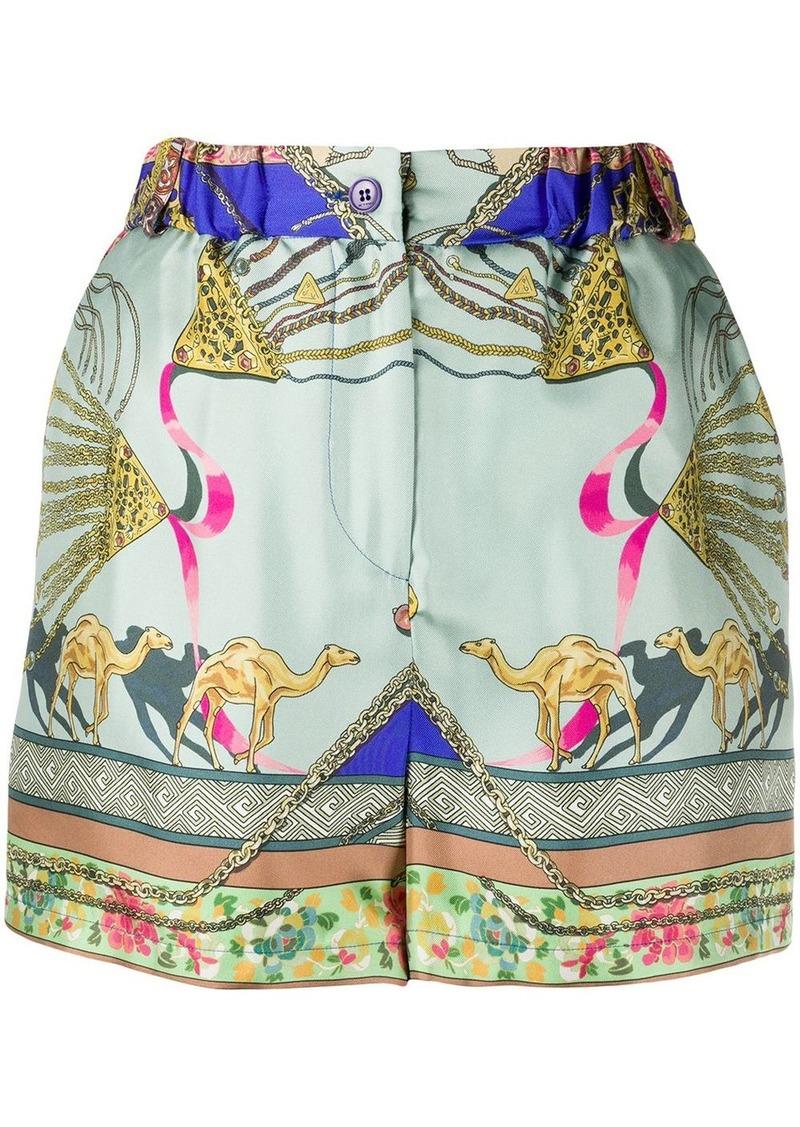Etro camel print shorts