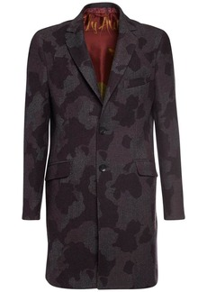 Etro Camo Jacquard Wool Coat
