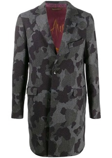 Etro camouflage-print single breasted coat