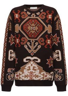Etro Carpet Jacquard Wool Blend Knit Sweater