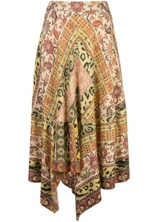 Etro Carpet-print midi skirt