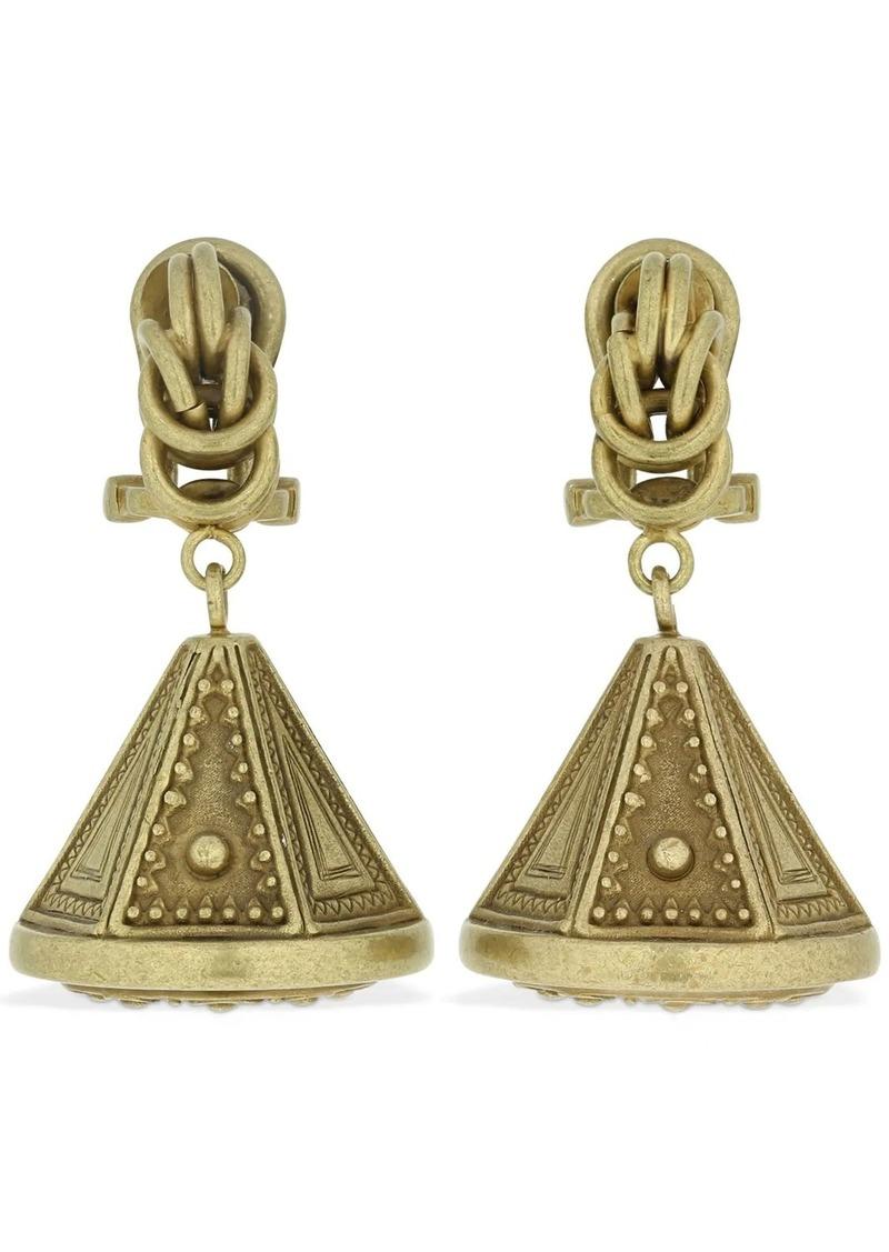 Chain & Knot Clip-on Earrings