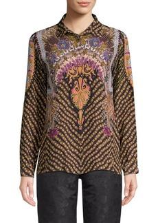 Etro Chain Paisley Silk Blouse