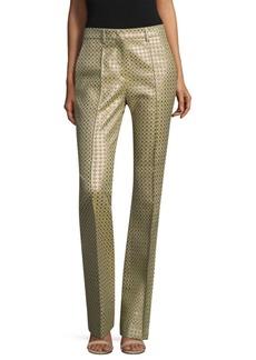 Etro Chartreuse Metallic Pants