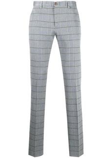Etro check pattern jersey trousrs
