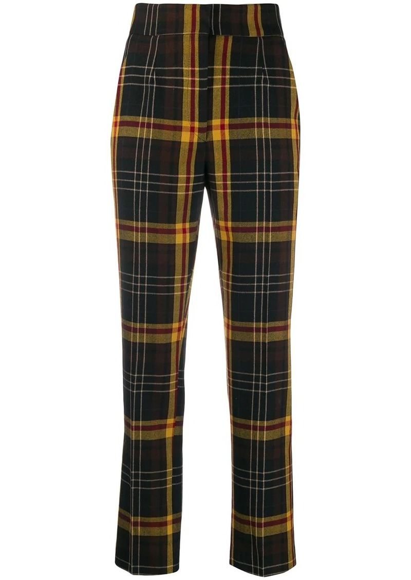 Etro check print trousers