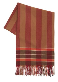 Etro Check Wool & Cashmere Scarf