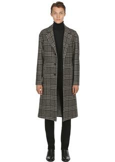 Etro Check Wool Jacquard Coat
