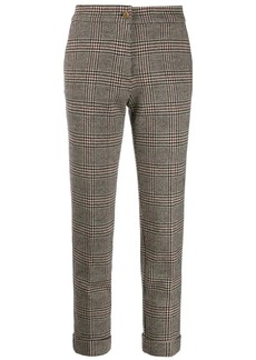 Etro checked cropped trousers