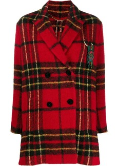 Etro checked double-breasted coat