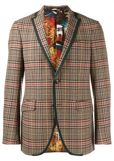 Etro checked single breasted blazer