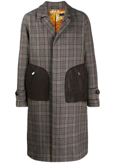Etro checked single breasted coat