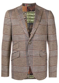 Etro checked slim-fit blazer