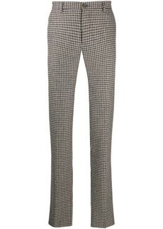 Etro checked slim fit trousers