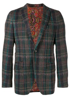 Etro checked tailored blazer