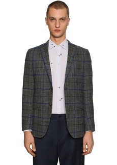 Etro Checked Wool & Mohair Blend Jacket