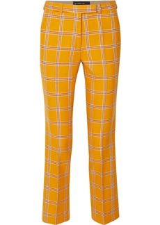 Etro Checked Wool Straight-leg Pants