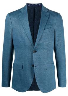 Etro chevron pattern linen-blend blazer