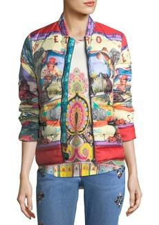 Etro Circus-Print Down Puffer Jacket
