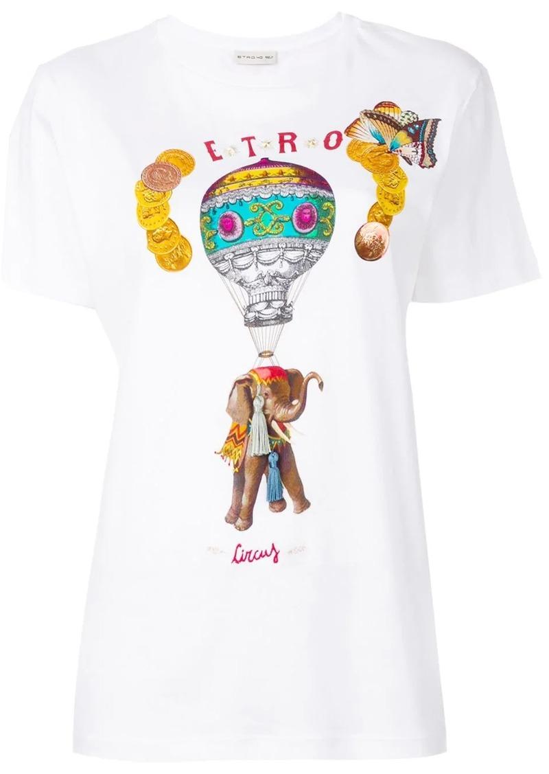 Etro circus print T-shirt