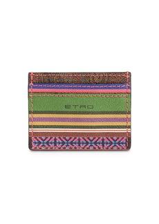 Etro Coated Canvas Card Holder
