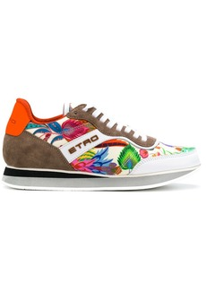 Etro colour-block floral sneakers