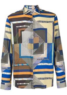 Etro colourblock print shirt
