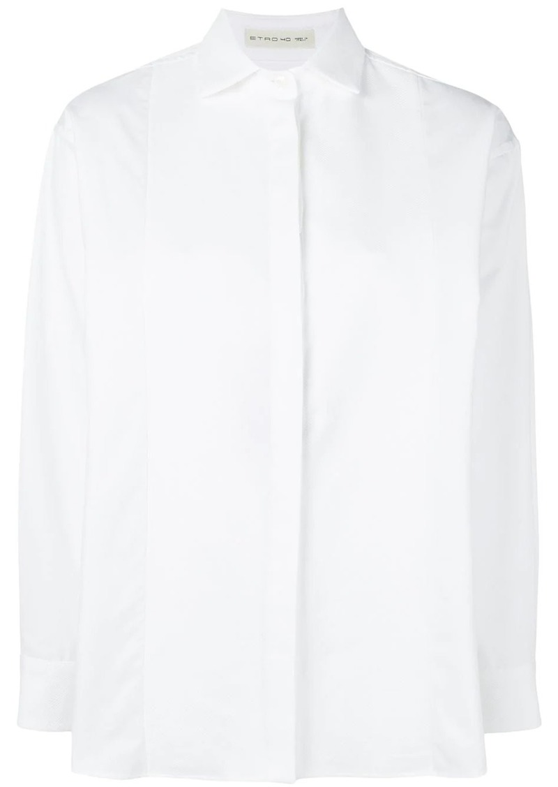 Etro concealed front shirt