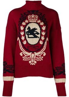 Etro contrast knit jumper