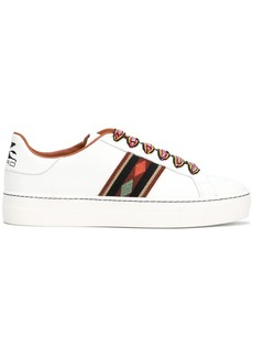 Etro contrasting lace sneakers
