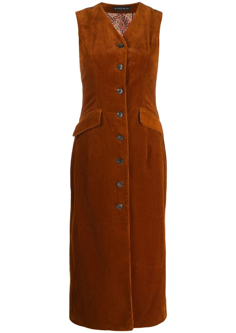 Etro corduroy button-up dress