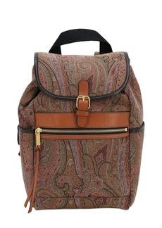 Etro Cotton Jacquard Backpack