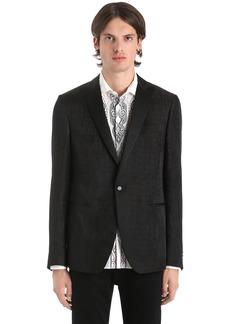 Etro Croc Linen & Silk Jacquard Jacket