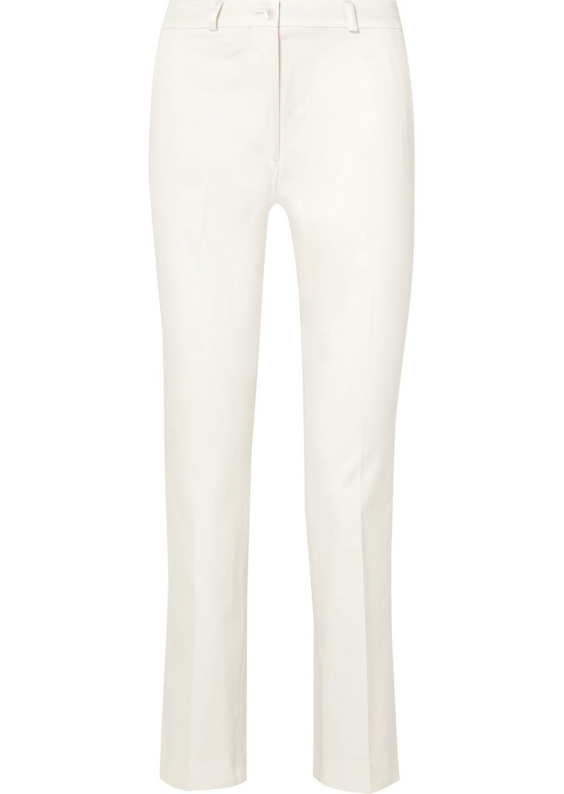 Etro Cropped Cotton-blend Slim-leg Pants