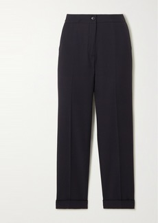 Etro Cropped Crepe Slim-leg Pants