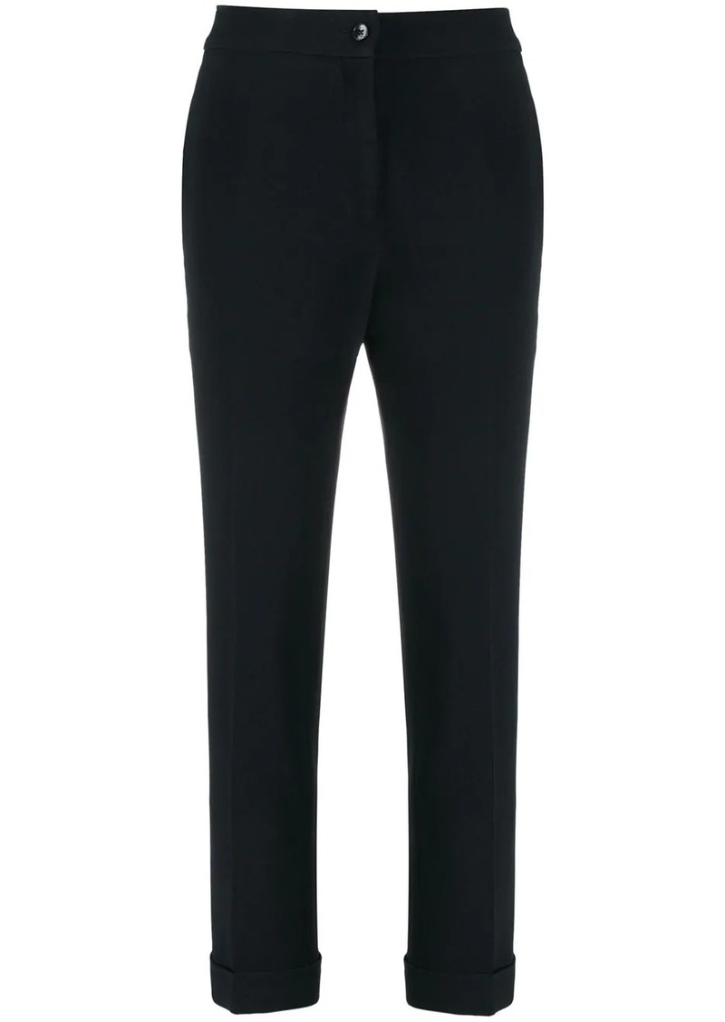 Etro cropped turned-up trousers